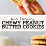 chewy peanut butter cookies pinterest graphic