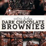 dark chocolate brownies pinterest graphic