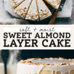 almond cake pinterest graphic