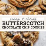 butterscotch chocolate chip cookies pinterest
