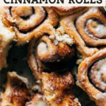 brown butter cinnamon rolls pinterest graphic
