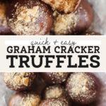 graham cracker truffles pinterest graphic