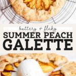 Summer Peach Galette pinterest graphic