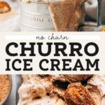 churro ice cream pinterest graphic