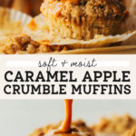 caramel apple muffins pinterest graphic
