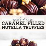 nutella truffles pinterest graphic