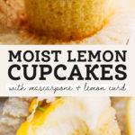 lemon cupcake pinterest graphic
