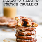 apple cider crullers pinterest graphic