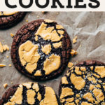 Caramelized White Chocolate Brownie Cookies pinterest graphic