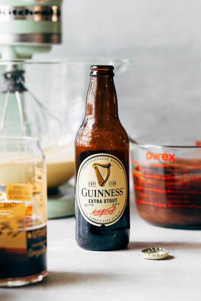 a bottle of Guinness beer