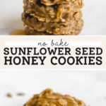 No Bake Sunflower Seed Butter Cookies pinterest graphic