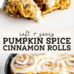 pumpkin cinnamon rolls pinterest graphic