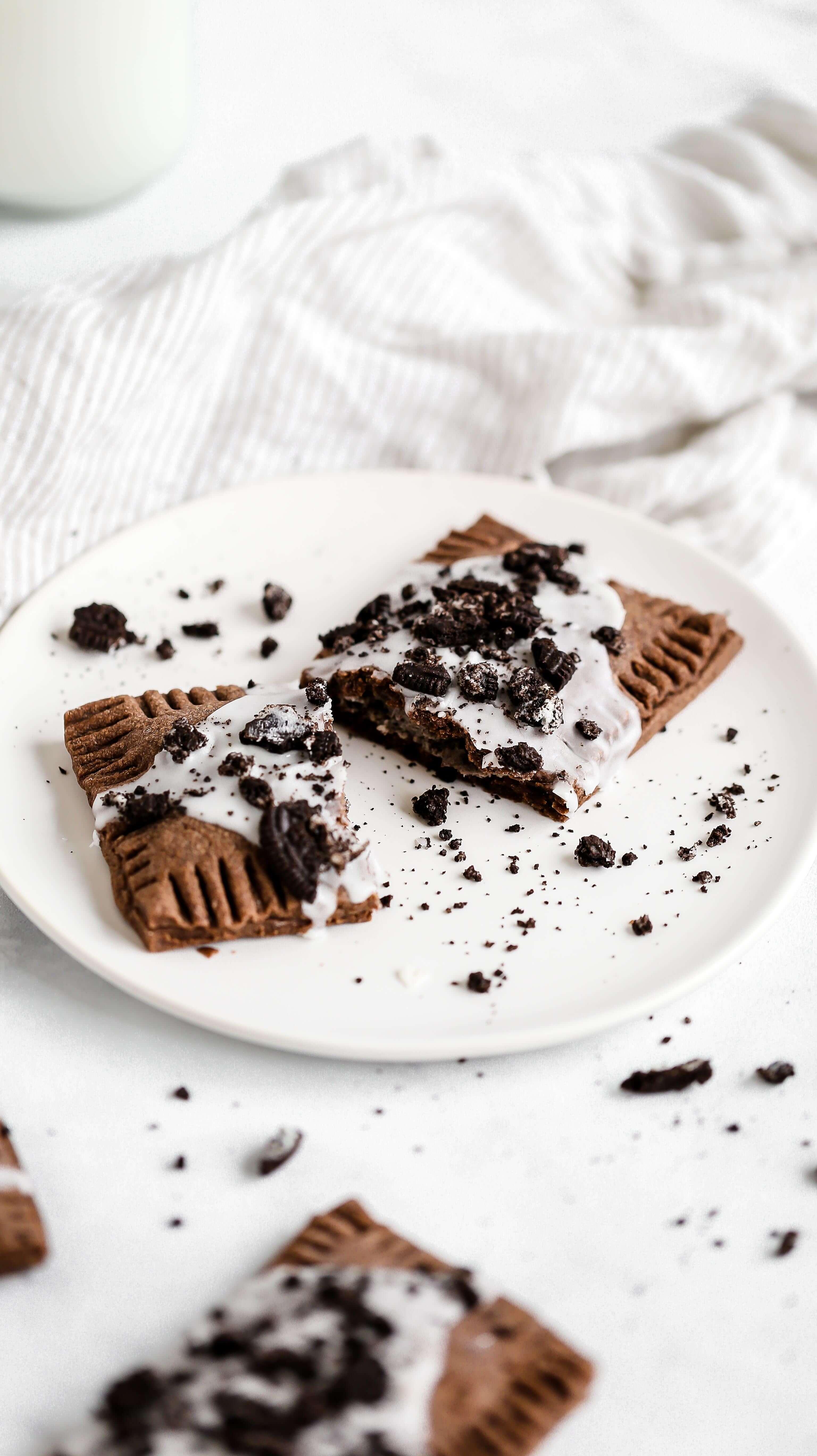 a homemade pop tart on a plate