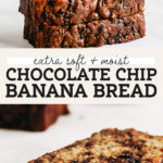 chocolate chip banana bread pinterest graphic