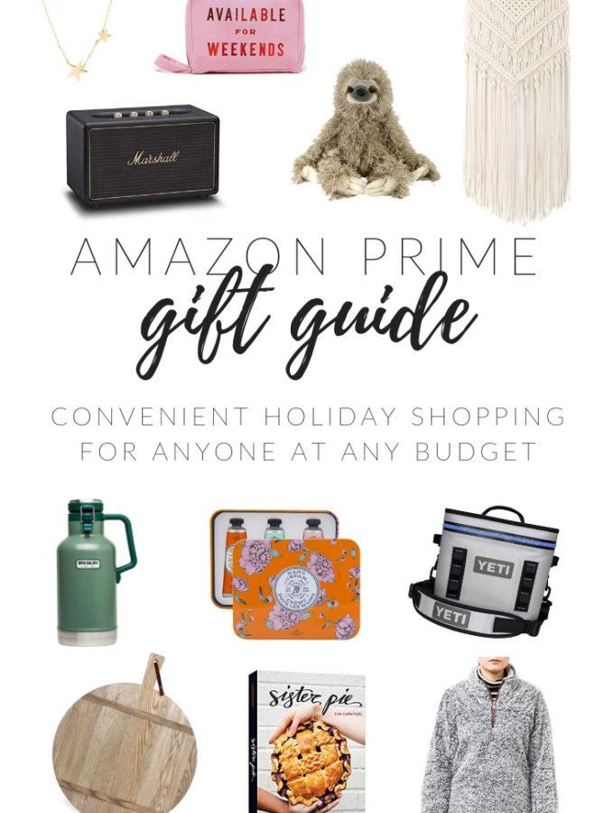 Amazon Prime Gift Guide 2018