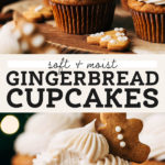 gingerbread cupcakes pinterest graphic
