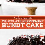 Chocolate Peppermint Bundt Cake pinterest graphic