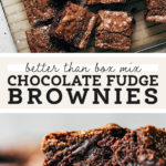 Better than Boxed Brownies Pinterest