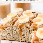 banana coffee cake pinterest graphic
