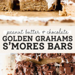 golden grahams s'mores bars pinterest graphic