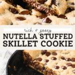 nutella skillet cookie pinterest graphic