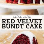 red velvet bundt cake pinterest graphic