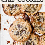 salted caramel chocolate chip cookies pinterest graphic