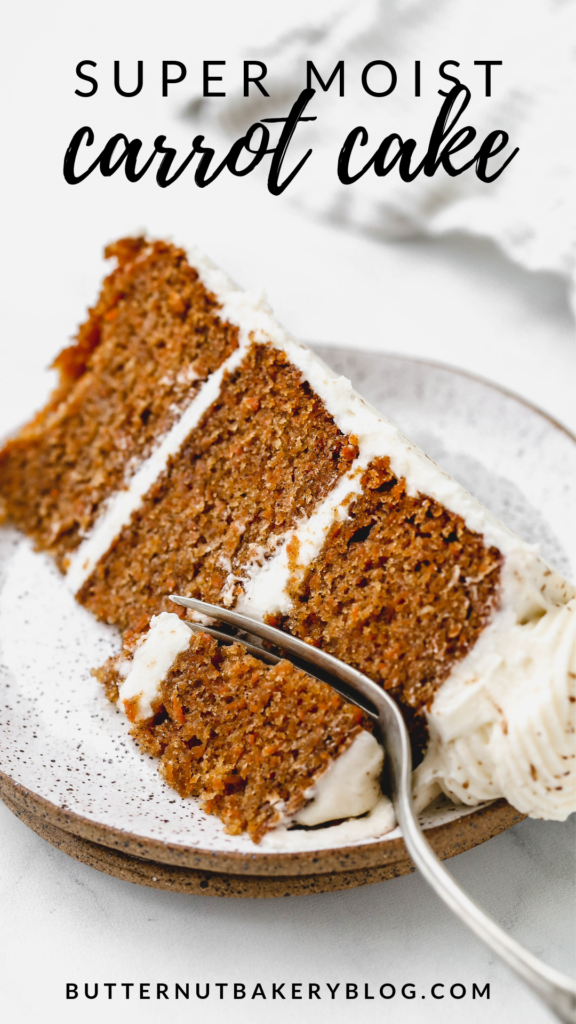 a slice of the best ever carrot cake