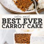 carrot cake pinterest graphic