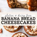 banana cheesecake pinterest graphic