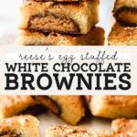 white chocolate brownies pinterest graphic