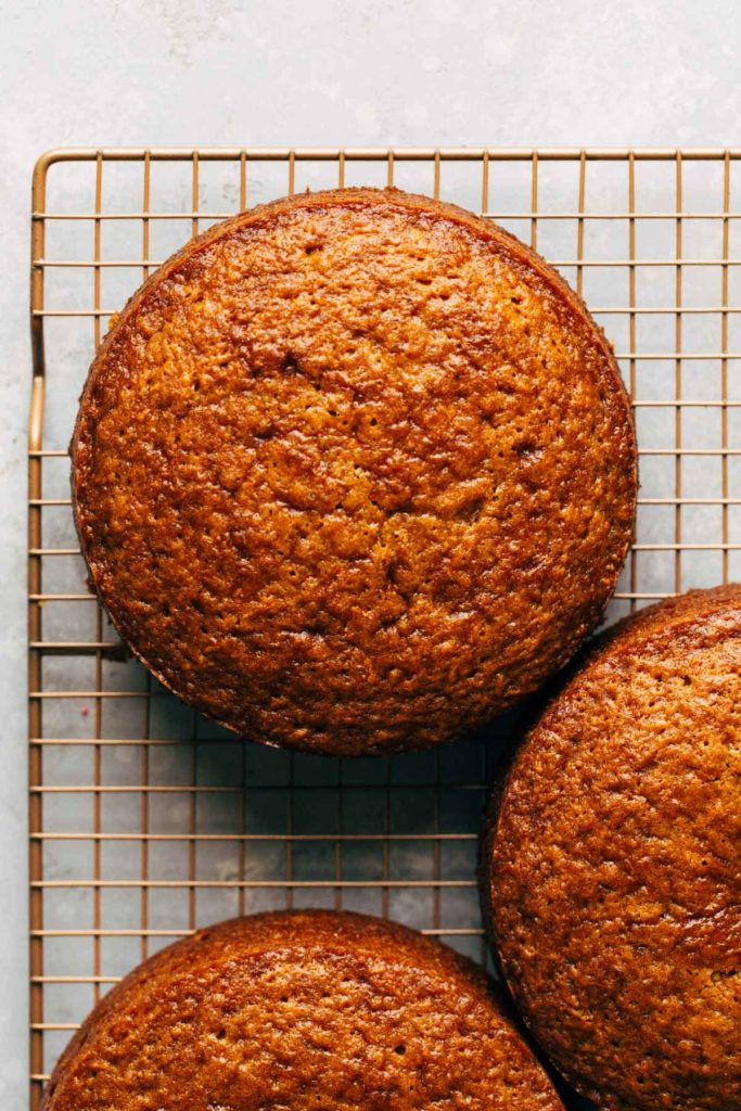baked layers of carrot cake