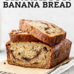 Cinnamon Banana Bread pinterest graphic