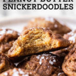peanut butter snickerdoodle pinterest graphic