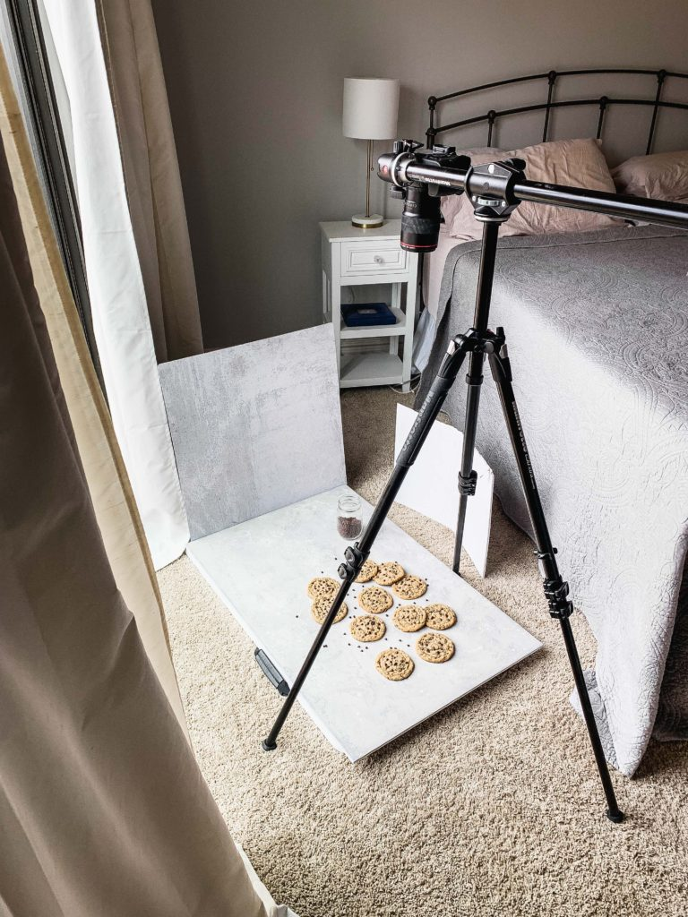 behind the scenes of food photography set up