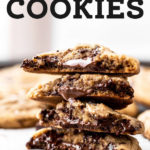 nutella cookies pinterest graphic