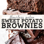 sweet potato brownies pinterest graphic