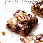 almond cookie bars pinterest graphic