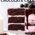 blackberry cake pinterest graphic