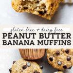 pb banana muffins pinterest graphic