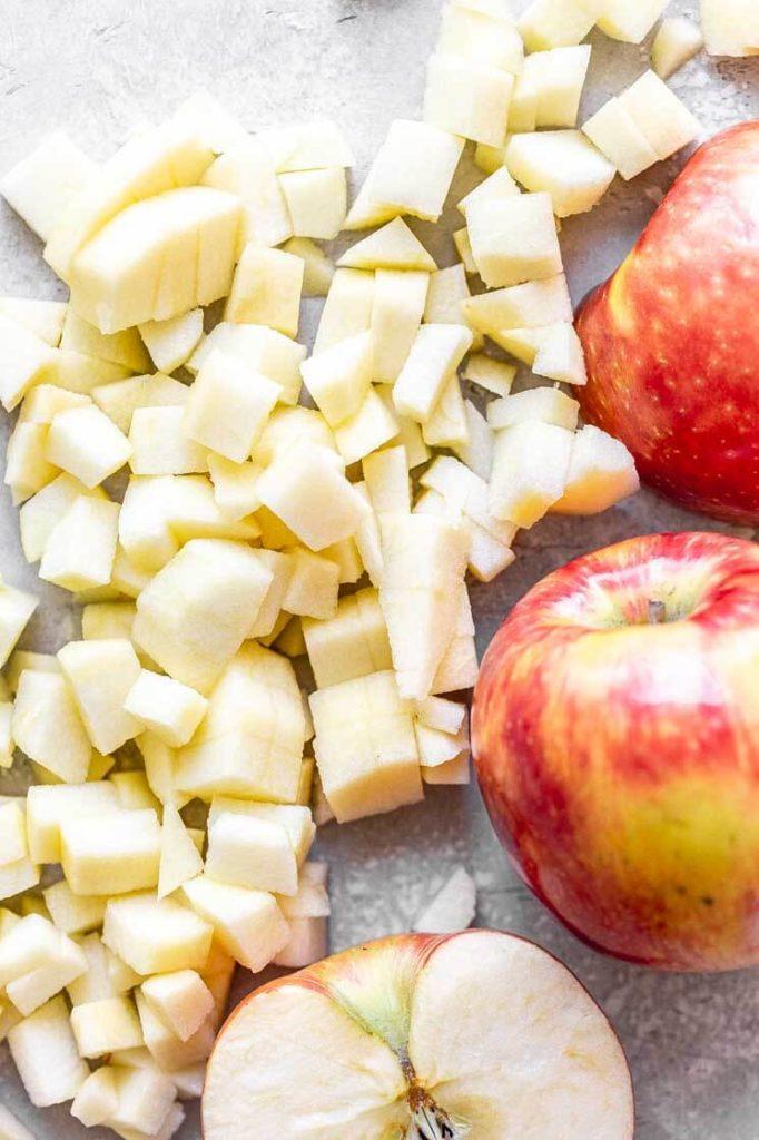 chopped honey crisp apples