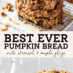 pumpkin bread pinterest graphic