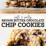 chocolate chip cookie pinterest graphic