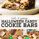 halloween candy cookie bars pinterest graphic
