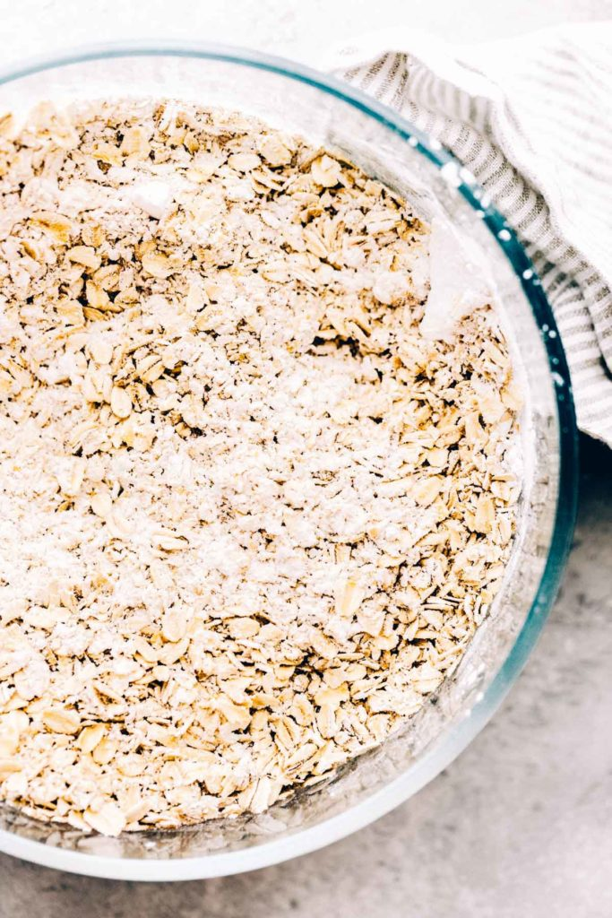 a bowl of ground oats and gluten free flour