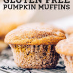 These dairy free and gluten free pumpkin muffins have the perfect texture. They super moist and soft and stay that way for days! Add a coating of cinnamon sugar for some extra sweetness.