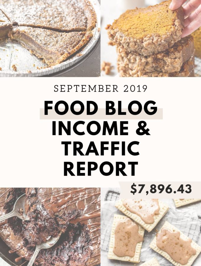 food blog income report graphic