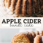 apple cider cake pinterest graphic