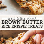 brown butter rice krispies pinterest graphic
