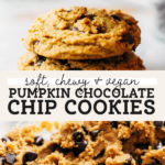 vegan pumpkin cookies pinterest graphic